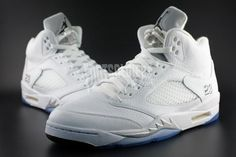 wholesale dealer 86fc1 f8653 More images of the Air Jordan 5 White Metallic Silver http   www
