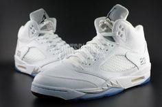 More images of the Air Jordan 5 White/Metallic Silver http://www.sneakerfiles.com/2015/03/04/air-jordan-5-white-metallic-silver-2015-retro/…