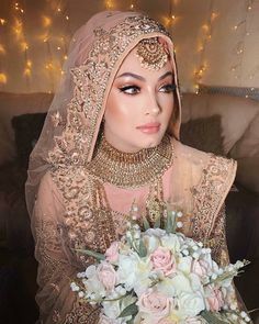 bridal jewelry for the radiant bride Hijabi Wedding, Pakistani Wedding Outfits, Pakistani Wedding Dresses, Bridal Outfits, Wedding Abaya, Asian Wedding Dress, Pakistani Bridal Makeup, Asian Bridal Makeup, Indian Bridal