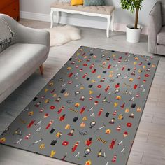 Welder Print Pattern Home Decor Rectangle Area Rug