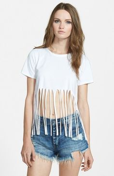 MISSGUIDED Fringe Tee