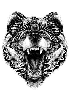 #illustration #handdrawn #portrait #illustration  #surreal #animal #pen #pencil