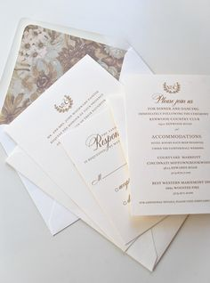 Lovely traditional design by Ink & Ivory | Paper & Pearl