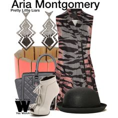 Inspired by Lucy Hale as Aria Montgomery on Pretty Little Liars. I love the hat!