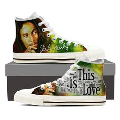 Crazy Shoes, Me Too Shoes, Bob Marley T Shirts, Bob Shoes, Reggae Style, Men's High Top Sneakers, Mens High Tops, Sneakers Fashion, Converse Chuck Taylor