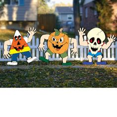 "Little Treaters Pattern. Decorate your yard this year with these whimsical characters. They're sure to be a smash hit this Halloween! Approx. 24"" Tall. 3 Designs! Pattern #2384  $12.95  ( crafting, crafts, woodcraft, pattern, woodworking, yard art, halloween ) Pattern by Sherwood Creations"