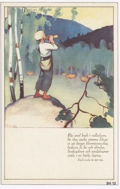 Martta Wendelin was a Finnish artist whose work was widely used to illustrate fairy tales and books, postcards, school books, magazine and book covers. Vintage Posters, Vintage Art, Ancient Myths, Pretty Drawings, Fairytale Art, Scandinavian Art, Old Paintings, Life Is An Adventure, Christian Art