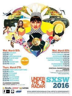 Under the Radar SXSW 2016 Day Parties   Wednesday & Thursday, March 16-17, 2016   12-6pm   Flamingo Cantina: 515 E. 6th St., Austin, TX 78701   Free with RSVP: https://www.eventbrite.com/e/under-the-radar-sxsw-2016-day-parties-march-16-17-flamingo-cantina-tickets-22553254391