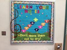 My bulletin board from my first year of teaching music in Cedar Hill!! =)