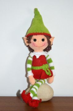 Elf Girl - AmigurumiBB. Stupid font for a pattern though, hard to follow.