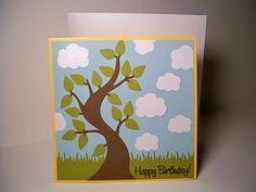 Card Creations & More by C: Birthday Card - Curvy Tree Scene