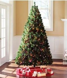 5. Green Madison Artificial Pine Christmas Tree