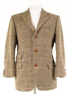Harris Tweed jacket w/ elbow pads + ticket pocket extra short - Tweedmans Vintage Tweed Jackets, Harris Tweed Jacket, Second Hand Designer Clothes, Tweed Run, Elbow Patches, Classic Man, Formal Wear, Ticket, Gentleman