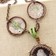 Rustic Charm Necklace project by Johanna Love, Stampington's 6 Bezel Projects [On the Blog]