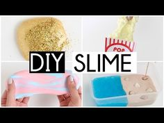 MAKING 4 AMAZING DIY SLIMES & SQUISHIES - Easy NO GLUE Slime Recipes! - YouTube