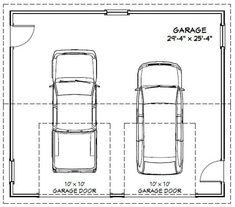 30x26 2-Car Garages 780 sq ft 12ft Walls PDF Floor   Etsy Garage Apartment Floor Plans, 2 Car Garage Plans, Garage Workshop Plans, Carport Plans, Garage Ideas, Detached Garage Designs, Garage Door Design, Tiny House Loft, Cabin House Plans