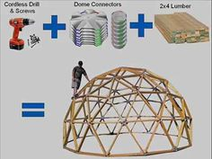 Create your own Geodesic Dome Structure with a set of these unique connectors. Natural Building, Green Building, Home Room Design, House Design, Dome Home Kits, Yurt Home, Dome Structure, Geodesic Dome Homes, Dome Greenhouse