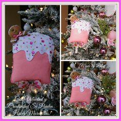 hola chic@s Hoy les comparto este bonito adorno navideño una PALETA DE HELADO en fieltro no solo la pueden utilizar como adorno navideño t...