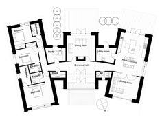 Modern Style House Plan - 3 Beds 3 Baths 2328 Sq/Ft Plan #520-6 Floor Plan - Main Floor Plan - Houseplans.com