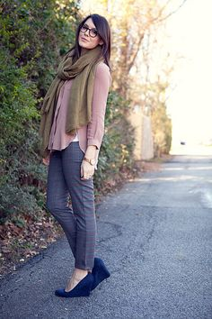like the color combination - scarves like this make me feel like I am drowning, but  could tone down the volume