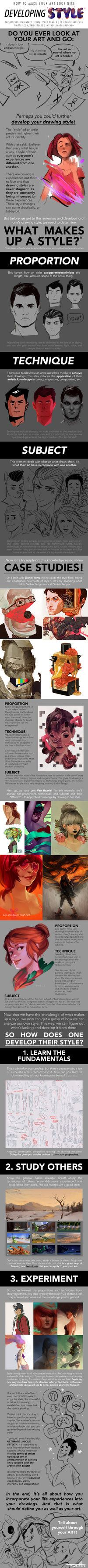 HOW TO MAKE YOUR ART LOOK NICE: Developing Style by trisketched.deviantart.com on @DeviantArt