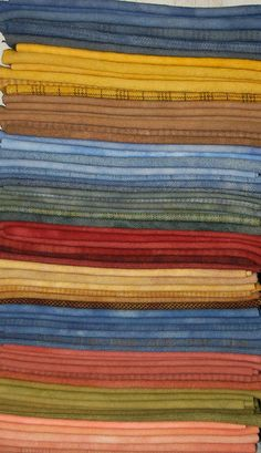 """[Left Stack] 11 of 22 (new) Hand-Dyed """"Vintage Shades"""" for my March 2013 eBay round @ http://stores.ebay.com/woolnwares  **Back to my dye pots next week...working on some gorgeous hand-dyed wool & SPOT dyes for late Spring & early Summer...stay tuned June 2014!"""