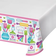 Little Chef 54 x 102 Plastic Tablecover Border Print/Case of 6 https://www.ktsupply.com/products/32786351472/Little-Chef-54-x-102-Plastic-Tablecover-Border-PrintCase-of-6.html