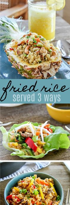 These three easy ways to serve fried rice are sure to impress your family and guests when entertaining at home. #FriedRiceFriday #IC AD
