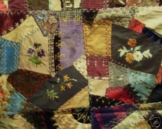 A lot like the quilt my Great-Great Grandmother made in 1875. This ... : crazy quilt definition - Adamdwight.com