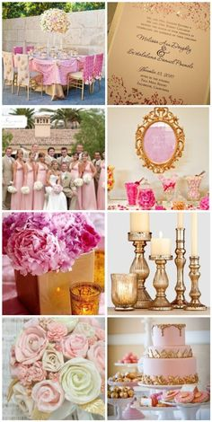 Pink and Gold Wedding on http://itsabrideslife.com