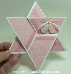 """A Star Fold Card for almost any Occasion: To make this 6"""" card, you will need to start with a piece of paper measuring 12 X 12...."""