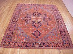 "Persian: Geometric 11' 5"" x 8' 2"" Antique Heriz at Persian Gallery New York - Antique Decorative Carpets & Period Tapestries"