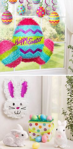 Show the Easter Bunny you've taken a shine to him with shimmering home décor! From Easter eggs to bunnies, these tinsel decorations come in a variety of shapes and colors so you can mix and match to create your own theme.