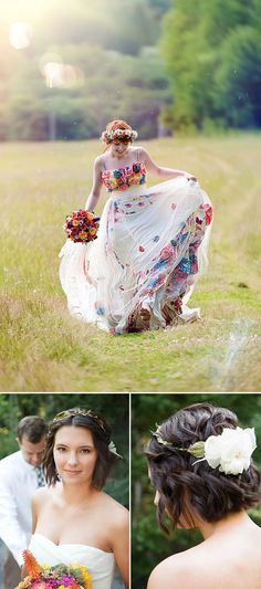 This site has lots of lovely bohemian bride hairstyles. Wedding Bride, Wedding Gowns, Dream Wedding, Wedding Ideas, Gothic Wedding, Floral Wedding, Short Hairstyles For Women, Bride Hairstyles, Hippy Fashion