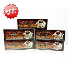 5 Boxes Gano Excel Ganocafe Classic Ganoderma Healthy Coffee 150 Sachets ** For more information, visit image link. Mocha Coffee, Black Coffee, Coffee Cups, 5 Box, Blended Coffee, Instant Coffee, Drinking Tea, Gourmet Recipes, Herbalism