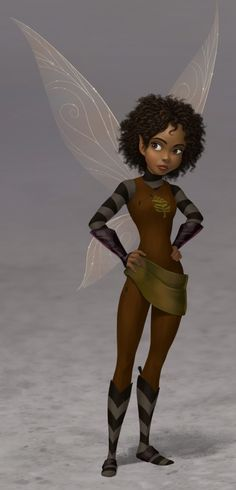 Legend of the Neverbeast - Visual Development by Joel Parod --Please, don't remove credit-- Black Girl Art, Black Women Art, Black Girl Magic, Art Girl, Hades Disney, Disney Art, Tinkerbell And Friends, Tinkerbell Fairies, Fotos Da Tinker Bell