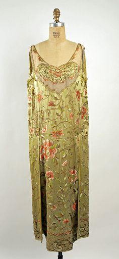 Dress, Evening.  Callot Soeurs  (French, active 1895–1937).  Date: 1923–24. Culture: French. Medium: silk.
