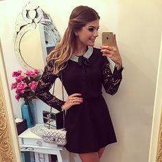 {Night out} Vestido @luziafazzolli ❤️ | #lookdanoite #lookofthenight #selfie #blogtrendalert