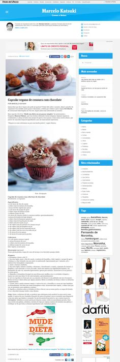 Cupcake Vegano de cenoura com chocolate Veículo: Folha de São Paulo Data: 27/05/2016 Cliente: Editora Alaúde