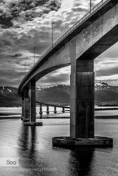 Sortland Bridge Vesterålen Norway by EuropeTrotter WRONG: this is Hadselbrua, Stokmarknes