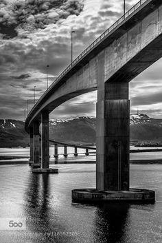 Sortland Bridge Vesterålen Norway by EuropeTrotter WRONG: this is Hadselbrua, Stokmarknes