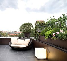 Private Terrace at Milan landscaping