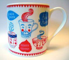 Personaliteas Mug, by Moira Millman via Folksy, £10.50