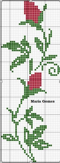 The Most Beautiful Cross Stitch Pattern Cross Stitch Bookmarks, Cross Stitch Borders, Cross Stitch Rose, Cross Stitch Flowers, Cross Stitch Designs, Cross Stitching, Cross Stitch Embroidery, Cross Stitch Patterns, Fair Isle Knitting Patterns