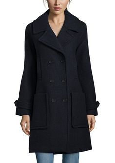 TOMMY HILFIGER Double Breasted Oversized Wool Coat   ideel
