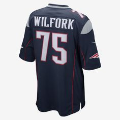 NFL Super Bowl New England Patriots (Vince Wilfork) Men's Football Game Jersey. Nike Store