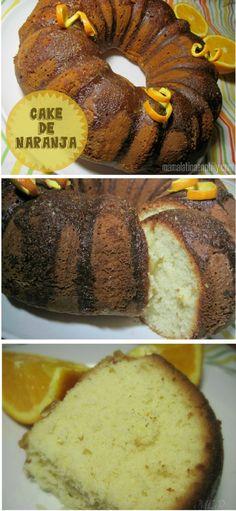 Un cake de naranja, esponjoso y delicioso!