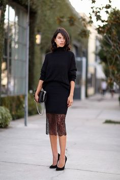Fashion Cognoscente: Trend Alert: New Year's Eve Black Lace