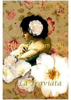 La Traviata  5 x 7 photocollage print   Edwardian by ElizasDream, $18.00