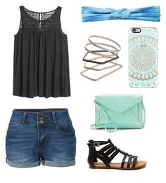 """""""black, blue,!mint"""" by abbeyelizabeth5 ❤ liked on Polyvore featuring Casetify, LE3NO, prAna, H&M, Topshop and Apt. 9"""